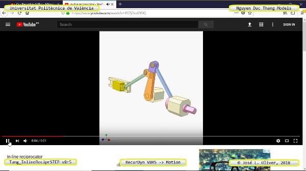 Simulación Cinemática Tang_InlineReciprSTEP-v8r5 con Recurdyn - Mov3d