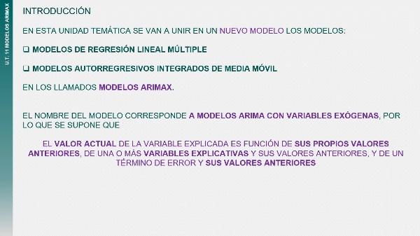 UT11T1 Introducción al modelo ARIMAX