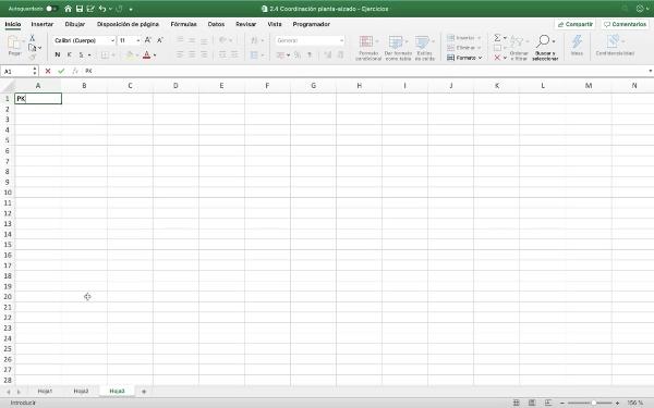 Elaboración del diagrama de curvaturas con Excel