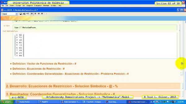 Solución Cinemática Simbólica a_c_0658 con Mathematica -A- 02 de 10