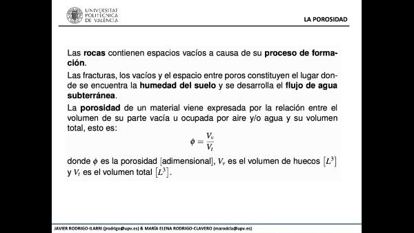 1.- Principios del flujo de agua subterránea - Parte 2 de 3