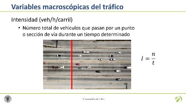 Las variables macroscópicas del tráfico