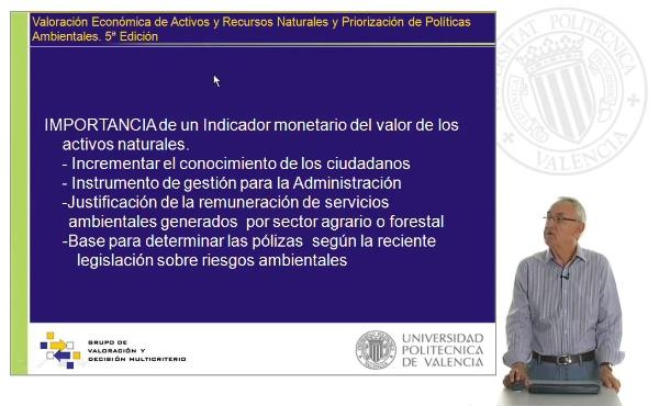 Presentación 5ª Edición Curso Valoración económica de activos y recursos ambientales y priorización de políticas ambientales