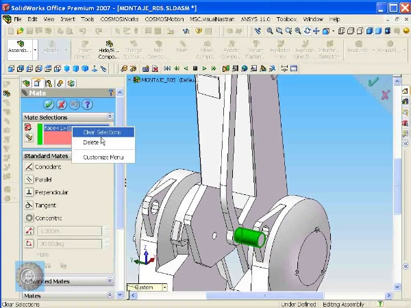 Montaje de un robot ABB con Solidworks - tramo O4 de 10