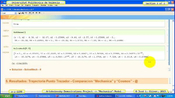 Simulación Mecanismo a_z_1190 con Mechanica - 3 de 3