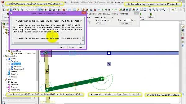 Simulación Mecanismos a-4-1553-0963-1136 con Cosmos Motion - 04 de 10