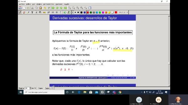 Matemáticas 1 GIOI grupo V  Clase 20