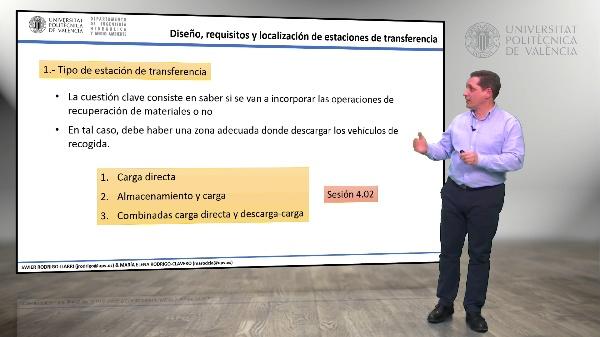 4.04.- Diseño requisitos y localización de las estaciones de transferencia