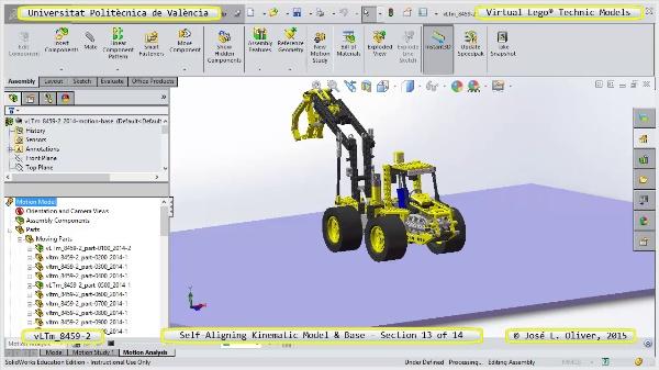 Simulación Dinámica Lego Technic 8459-2 sobre Base ¿ 13 de 14
