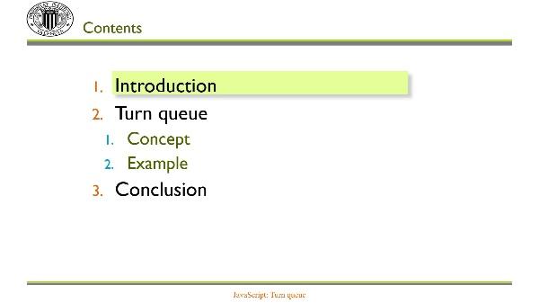 JavaScript: the turn queue