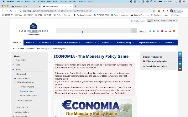 Politica Monetaria_Juego de Economia