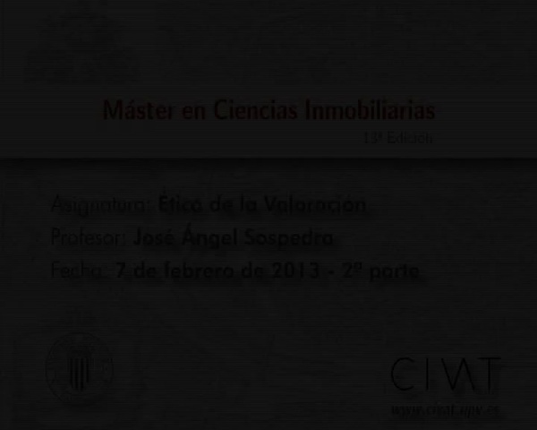 Ética de la valoración7.02.13J.A.Sospedra2