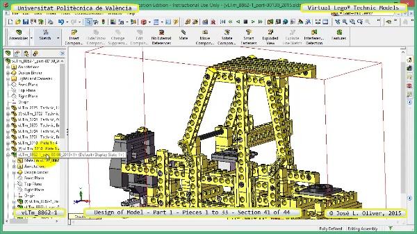 Creación Virtual Modelo Lego Technic 8862-1 ¿ Pieza 1 ¿ 41 de 44