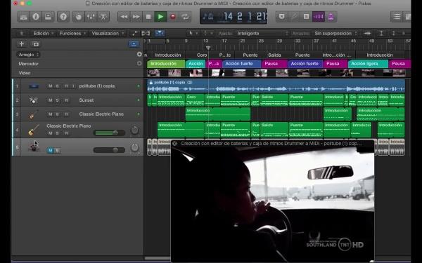 00:01:36 Creación de un elemento musical - drummer a MIDI