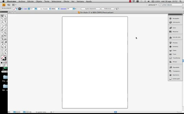 Adobe illustrator Herramienta Pincel de manchas