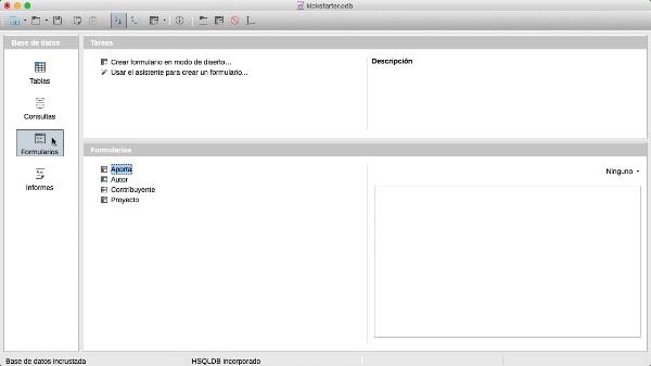 Subformularios en LibreOffice