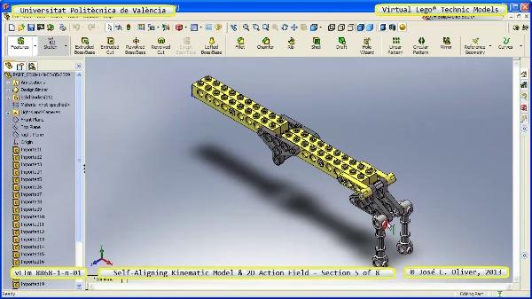 Simulación Cinemática Lego Technic 8868-1-n-03 con Cosmos Motion ¿ 5 de 8 - no audio