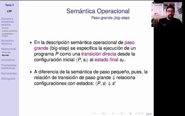LTP. Tema 2.3.5. Semántica operacional de paso grande (big-step)