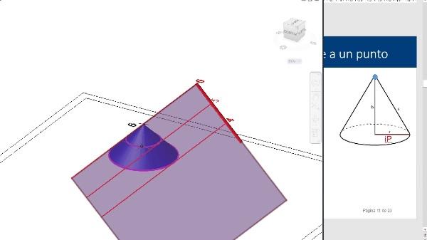 Plano de pendiente dada que contiene a una recta dada