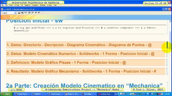 Simulación Mecanismo a_c_0658 con Mechanica - 13 de 18