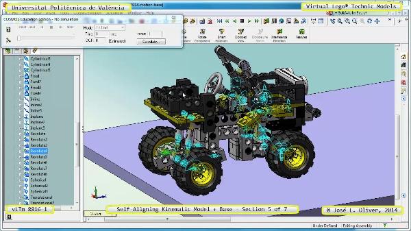 Simulación Dinámica Lego Technic 8816-1 sobre Base ¿ 5 de 7