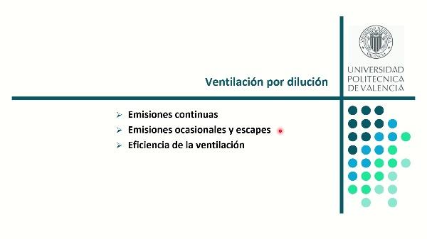Ventilación por dilución 2. Régimen no estacionario