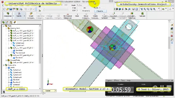 Simulación Mecanismo a-z-1111 con Cosmos Motion - 3 de 3