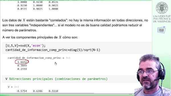 Regresión lineal: error de predicción, varianza de parámetros estimados (Matlab)
