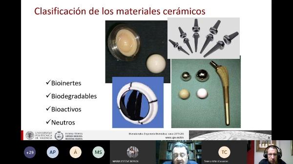 Biomateriales: Cerámicas bioinertes