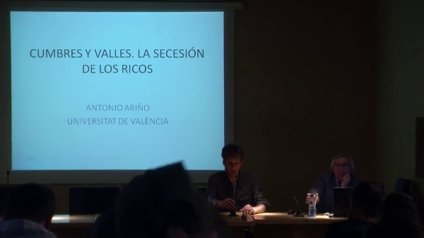 7/7 LOS LUGARES DEL FUTURO. Antonio Ariño. Cumbres y Valles, los lugares de la desigualdad y la secesión de los ricos.