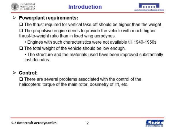 5.2. Rotorcraft aerodynamics