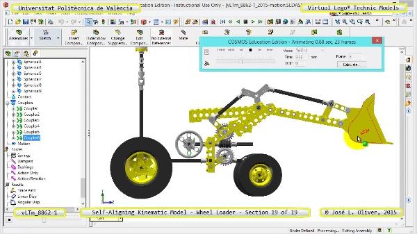 Simulación Cinemática Modelo Lego Technic 8862-1 -Cargador- 19 de 19