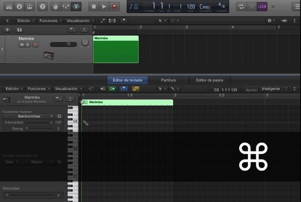 Tutorial Logic X Insertar notas MIDI