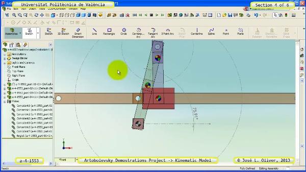 Simulación Mecanismo a_4_1553 con Cosmos Motion - 4 de 6