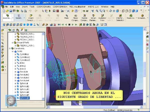 Montaje de robot ABB con MSC Visual Nastran Desktop -Tramo 07 de 07