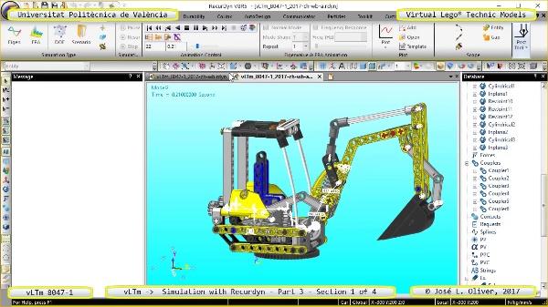 Simulación Cinemática Lego Technic 8047-1 con Recurdyn - Parte 3 ¿ 1 de 4