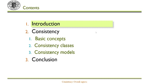 Consistency: Overall aspects