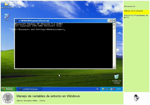 Manejo de variables de entorno en Windows