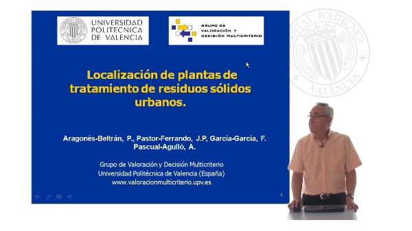 Localización de plantas de tratamiento de residuos sólidos urbanos