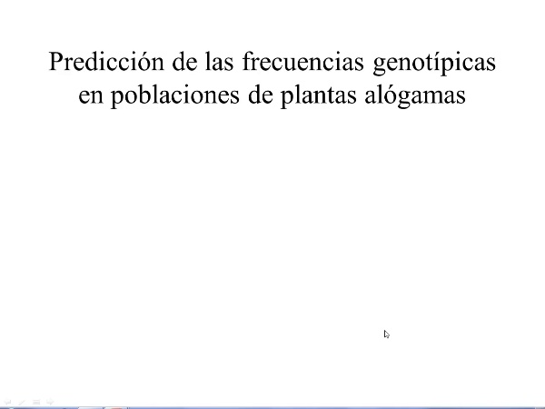Prediccion frecuencias genotípicas en alógamas