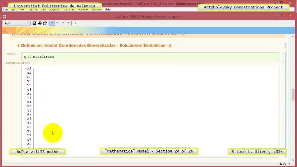 Solución Cinemática Simbólica a-z-1133 con Mathematica - 20 de 26