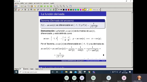 Matemáticas 1 GITI grupo A  Clase 17