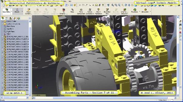 Montaje Modelo Lego Technic 8459-1 con Solidworks ¿ 07 de 11 - no audio