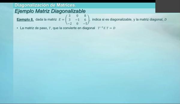 M1-ELE-67 Diagonalizacion ejemplo 8