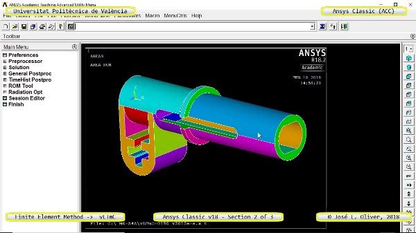 Análisis Estático Componente Lego Technic con Ansys Classic v18 - 2 de 3