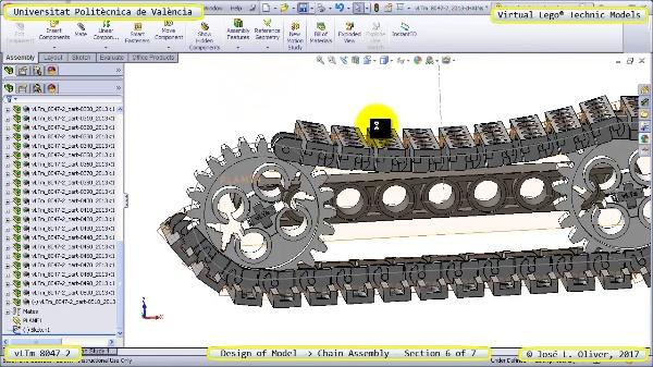 Creación Virtual Lego Technic 8047-2 ¿ Montaje de una Cadena ¿ 6 de 7