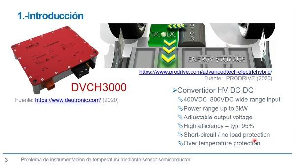 Planteamiento instrumentación temperatura en convertidor DC-DC