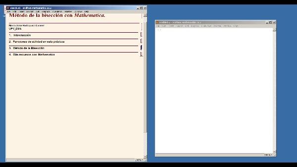 Método de la bisección con Mathematica