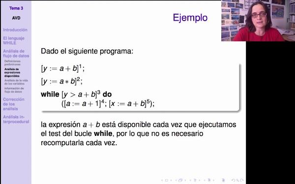 AVD - Análisis de expresiones disponibles. Definición del análisis
