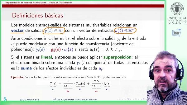Representación en Matriz de Transferencia de sistemas multivariables